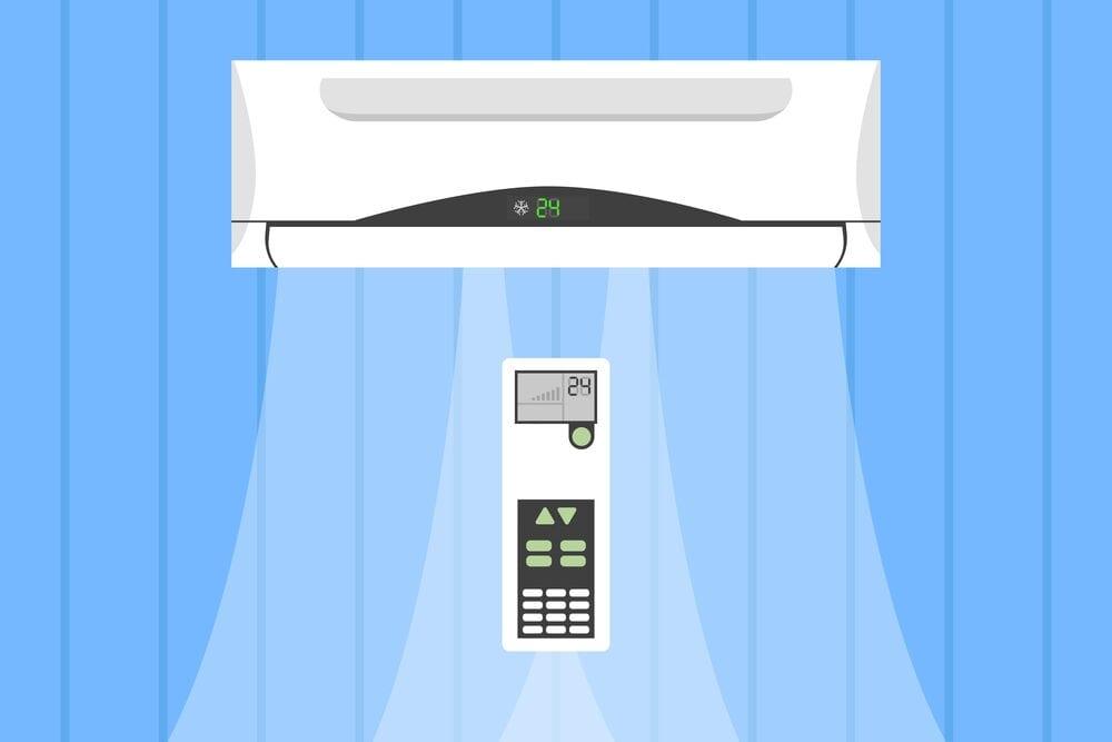 air-conditioner-and-remote-control-vector